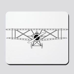 Biplane Isolated Outline Mousepad