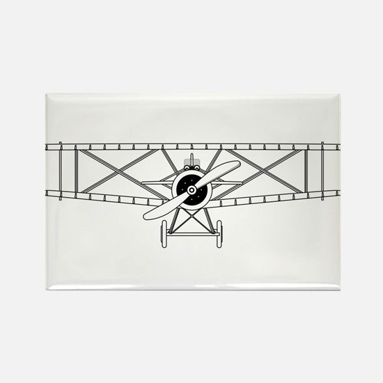 Biplane Isolated Outline Magnets