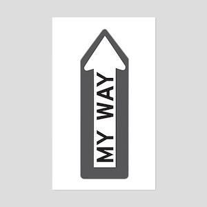 """My Way"" Rectangle Sticker"