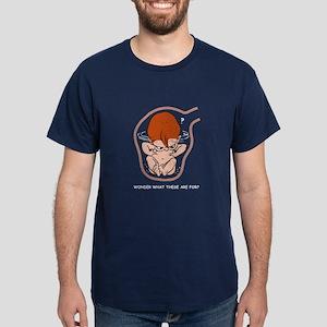 Red-Head EGGBERT Wonder What Dark T-Shirt