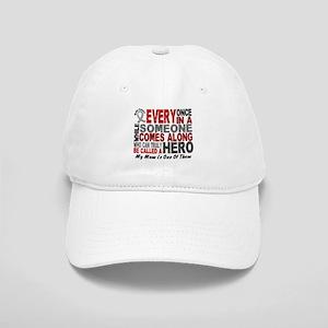 HERO Comes Along 1 Mom BRAIN CANCER Cap