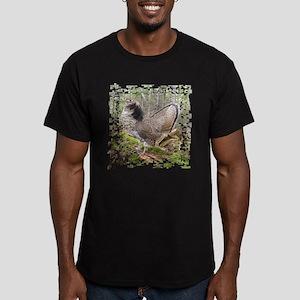 Ruffed Grouse Men's Fitted T-Shirt (dark)