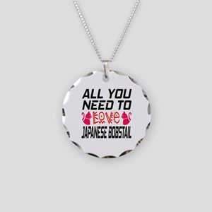 All You Need To Love japanes Necklace Circle Charm