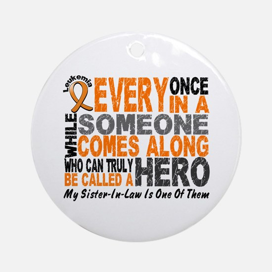 HERO Comes Along 1 Sister-In-Law LEUK Ornament (Ro