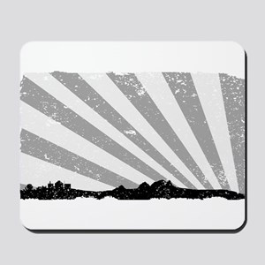 Town Silhouette Grey Grunge Mousepad