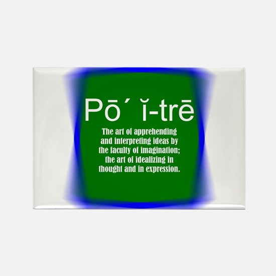Green Definition Poetry! Rectangle Magnet