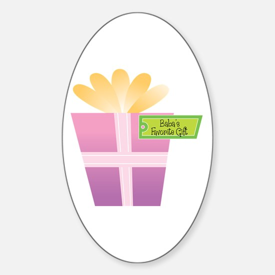 Baba's Favorite Gift Oval Decal