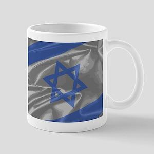 Israel Silk Flag Closeup Mugs