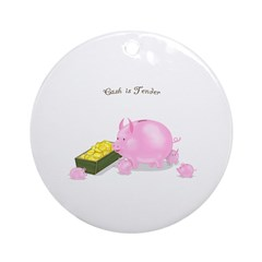 Cash is Tender Ornament (Round)