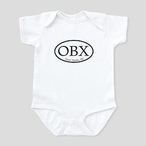OBX Outer Banks, NC Oval Infant Bodysuit