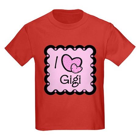 I Love Gigi Kids Dark T-Shirt
