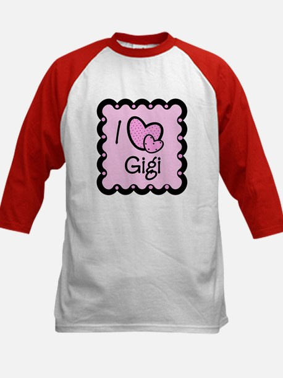 I Love Gigi Kids Baseball Jersey
