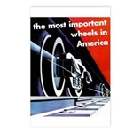 The most important Wheels- Postcards -Package of 8