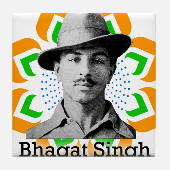 Bhagat Singh Tile Coaster