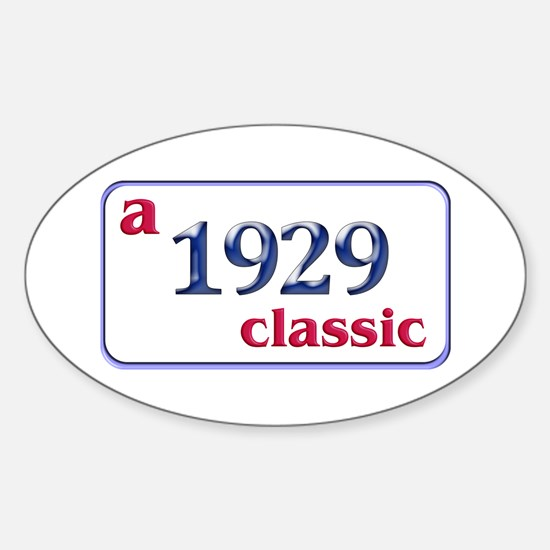 80th Birthday Oval Decal