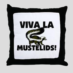 Viva La Mustelids Throw Pillow