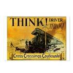 Cross Crossings Cautiously ! 8-Postcards