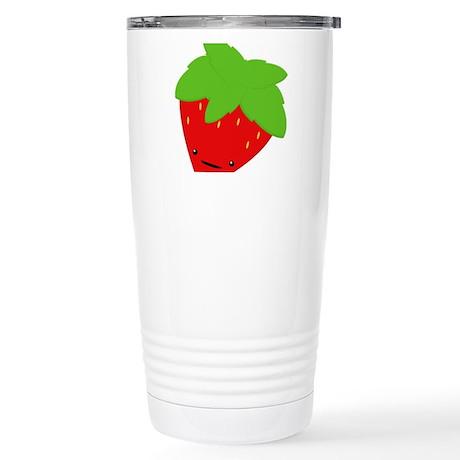 Strawberry Stainless Steel Travel Mug