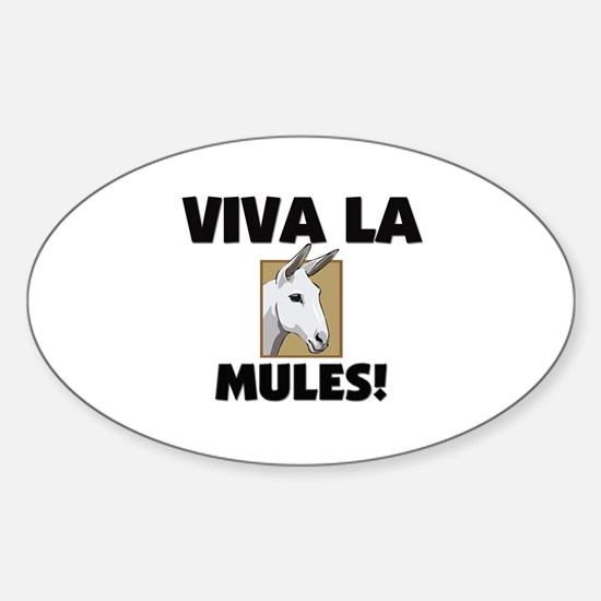 Viva La Mules Oval Decal