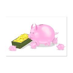 Piggy Bank Family Dinner Posters