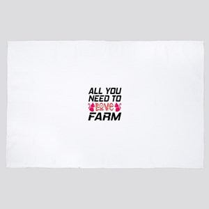 All You Need To Love farm Cat 4' x 6' Rug