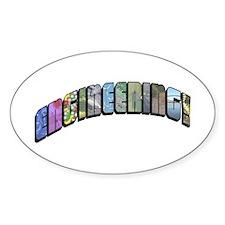 Engineering Oval Sticker