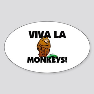 Viva La Monkeys Oval Sticker