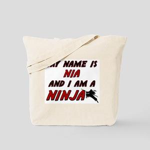 my name is nia and i am a ninja Tote Bag
