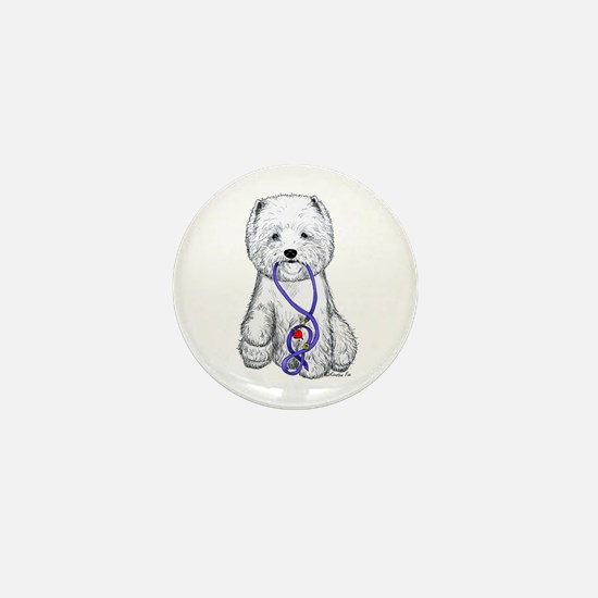 Westie Walkie Mini Button