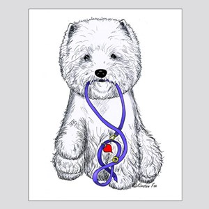 Westie Walkie Small Poster