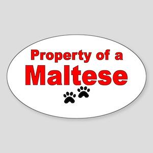 Property (1) Oval Sticker