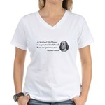 a learned blockhead Women's V-Neck T-Shirt