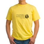 a learned blockhead Yellow T-Shirt
