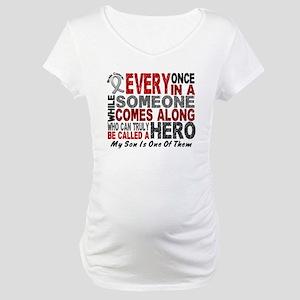 HERO Comes Along 1 Son BRAIN CANCER Maternity T-Sh