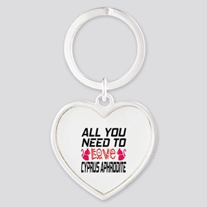All You Need To Love Cyprus Aphrodi Heart Keychain