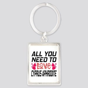 All You Need To Love Cyprus Aphr Portrait Keychain