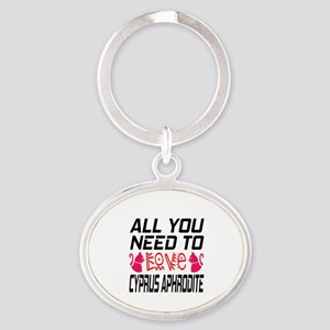 All You Need To Love Cyprus Aphrodit Oval Keychain