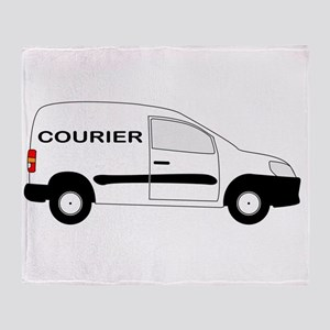 Small Courier Delivery Van Throw Blanket