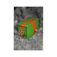 Holiday Ammo Box Rectangle Magnet