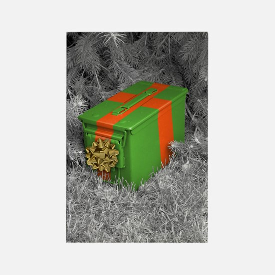 Holiday Ammo Box Rectangle Magnet