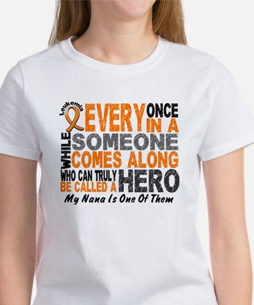HERO Comes Along 1 Nana LEUKEMIA Women's T-Shirt