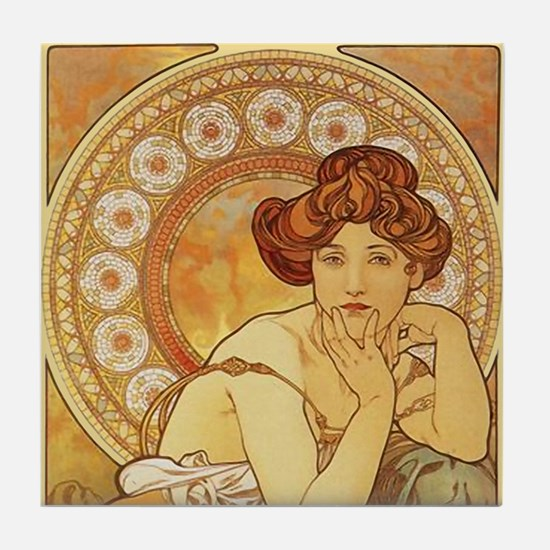 Alphonse Mucha 2 Tile Set - Topaz (Part 1of 2)
