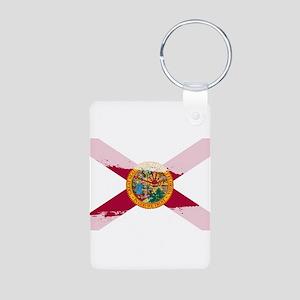 Florida Flag Splash Keychains