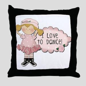 Blond Girl Dancer Throw Pillow
