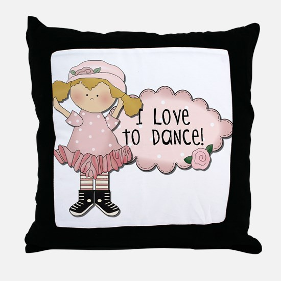 Blond Girl Dancer Throw Pillow