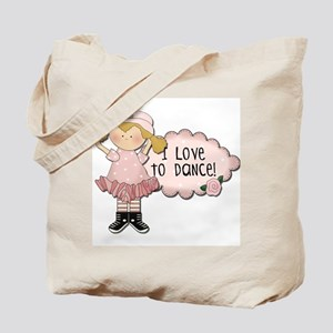 Blond Girl Dancer Tote Bag