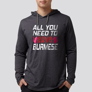 All You Need To Love burmese Cat Mens Hooded Shirt