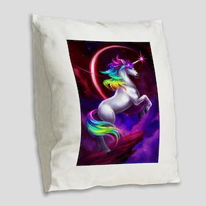 16x20_unicorndream Burlap Throw Pillow