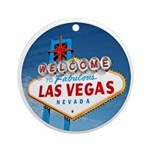 Las Vegas Sign - Holiday Ornament Round
