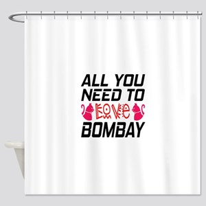 All You Need To Love bombay Cat Shower Curtain